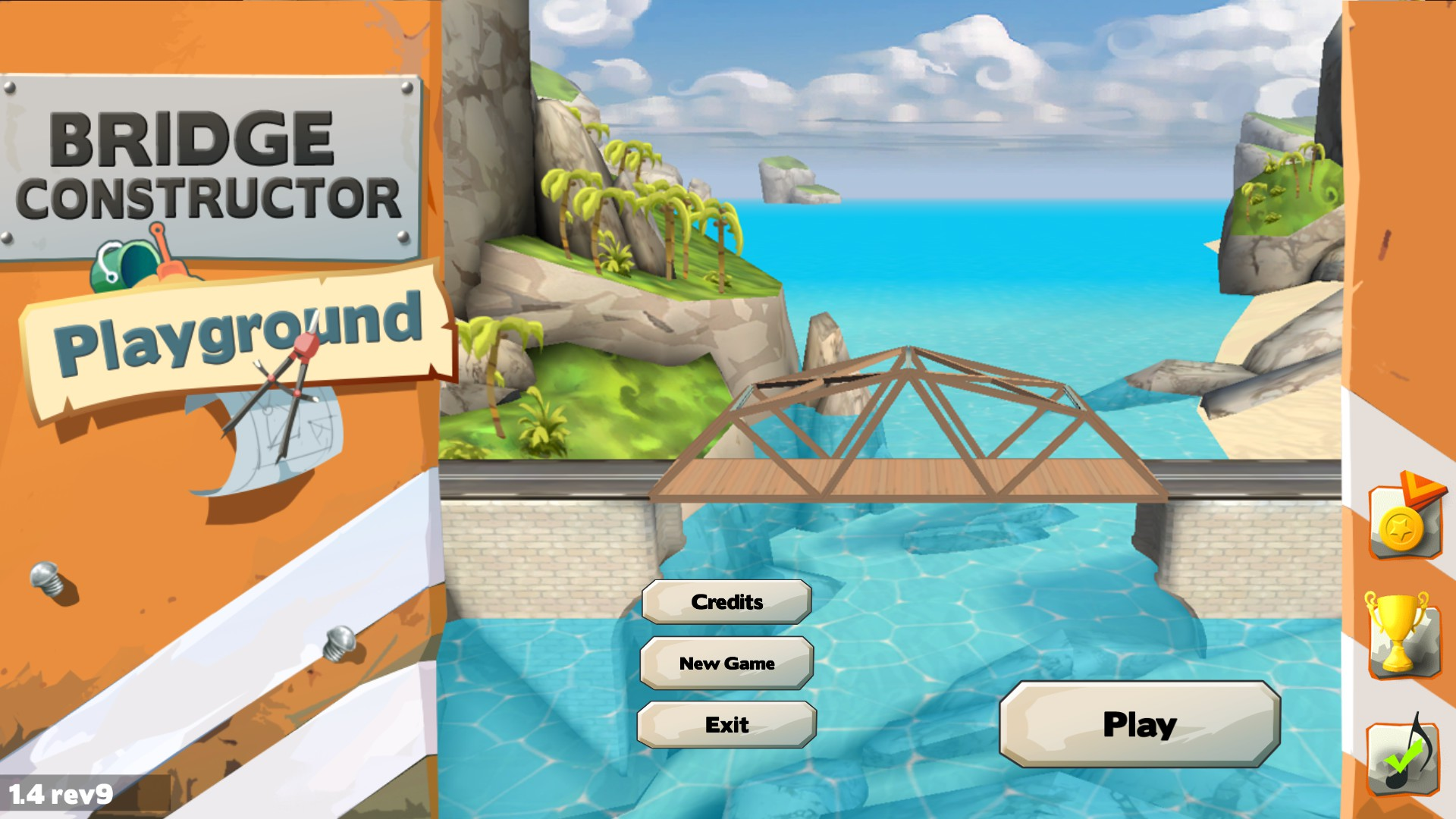 Bridge Constructor Playground Title Screen