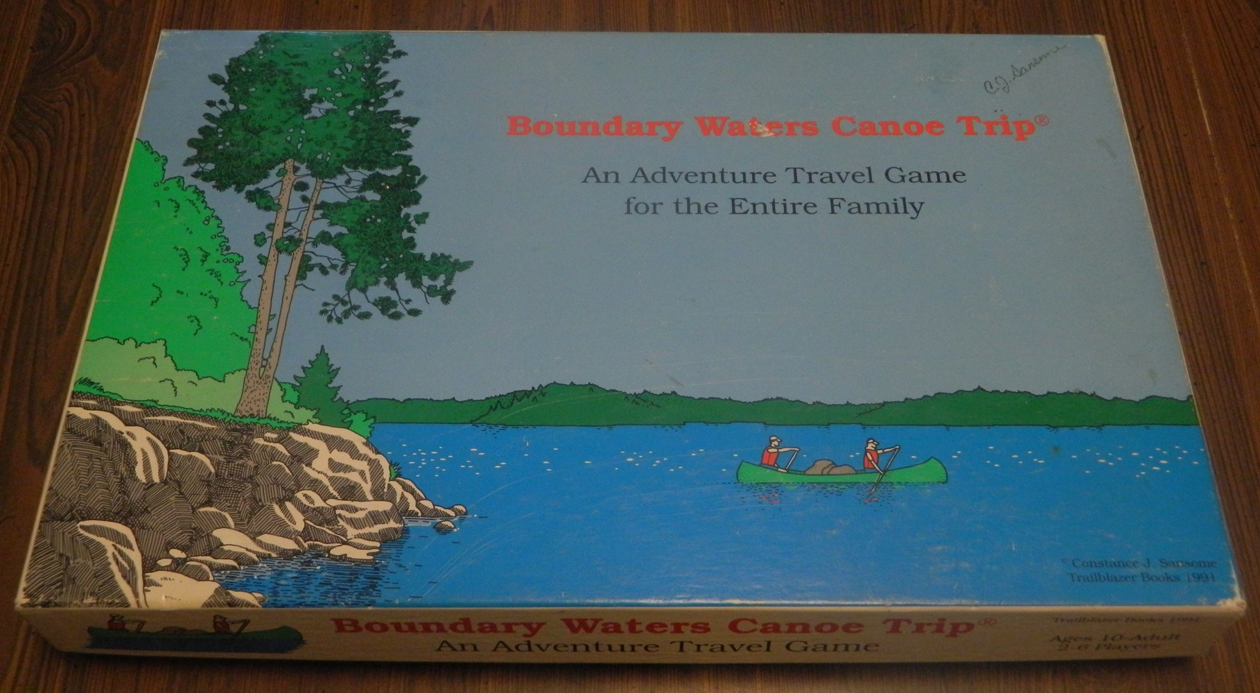 Boundary Waters Canoe Trip Game Box