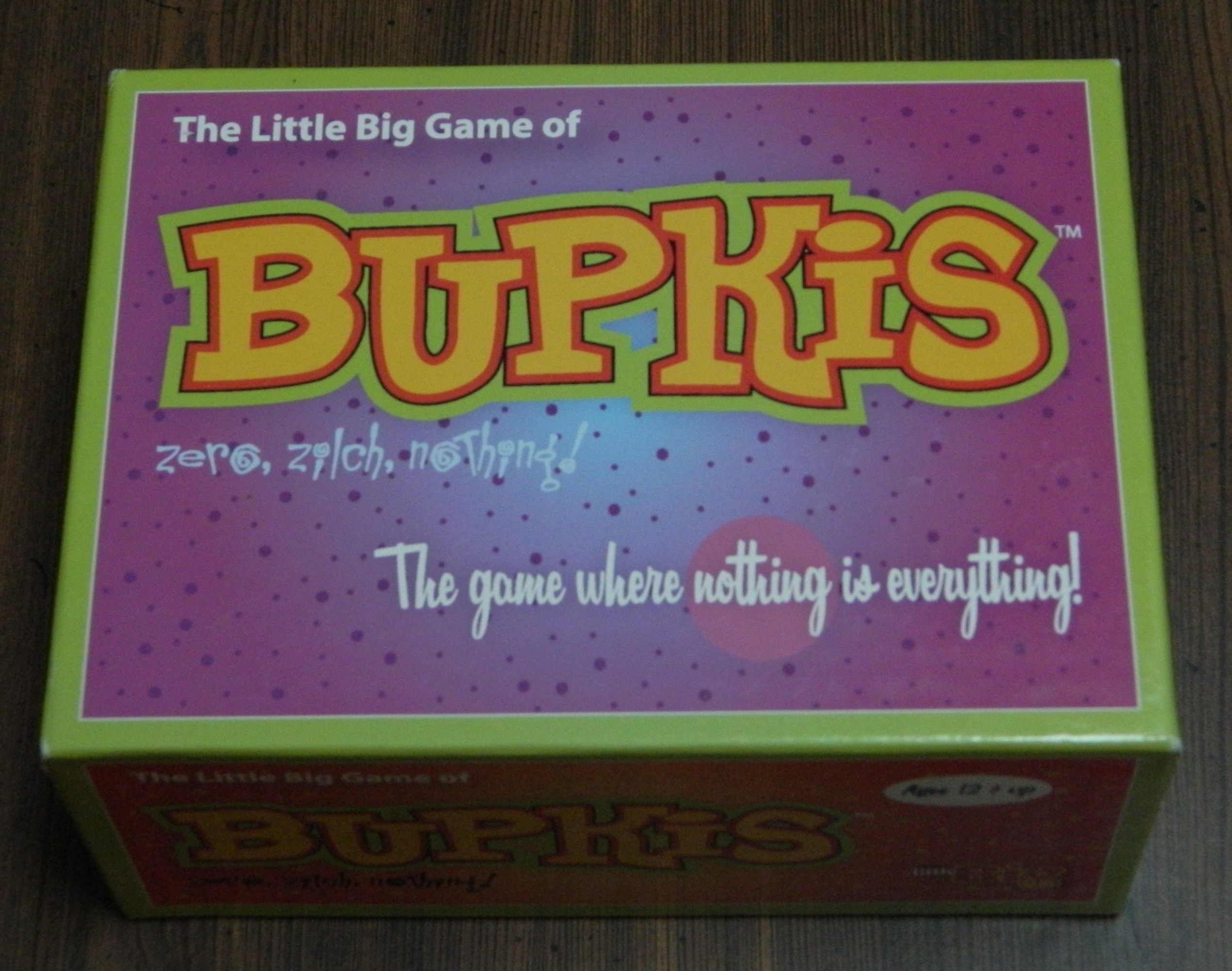 Bupkis Card Game Box