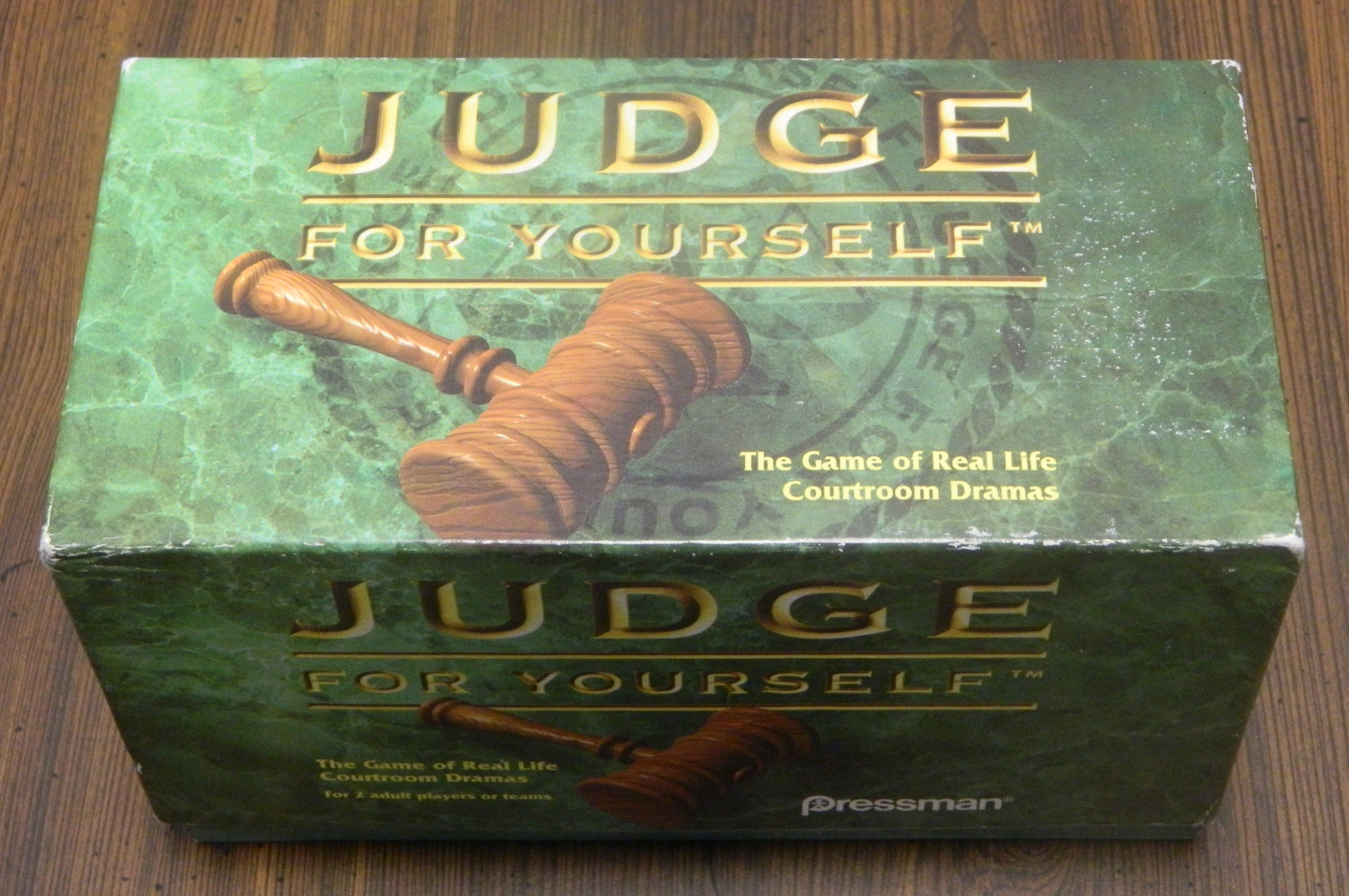 Judge For Yourself Trivia Game Box