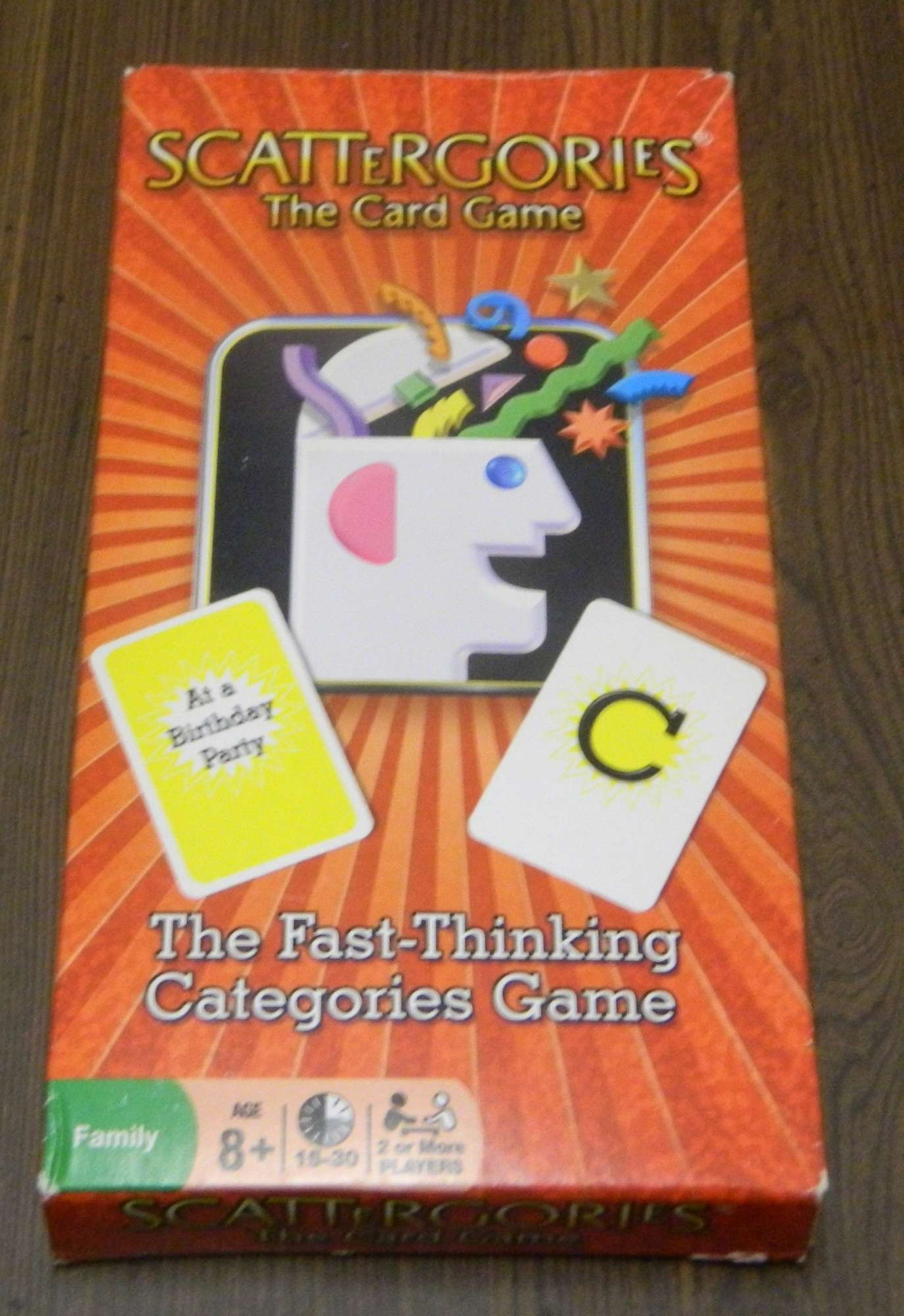 Scattergories Card Game Box