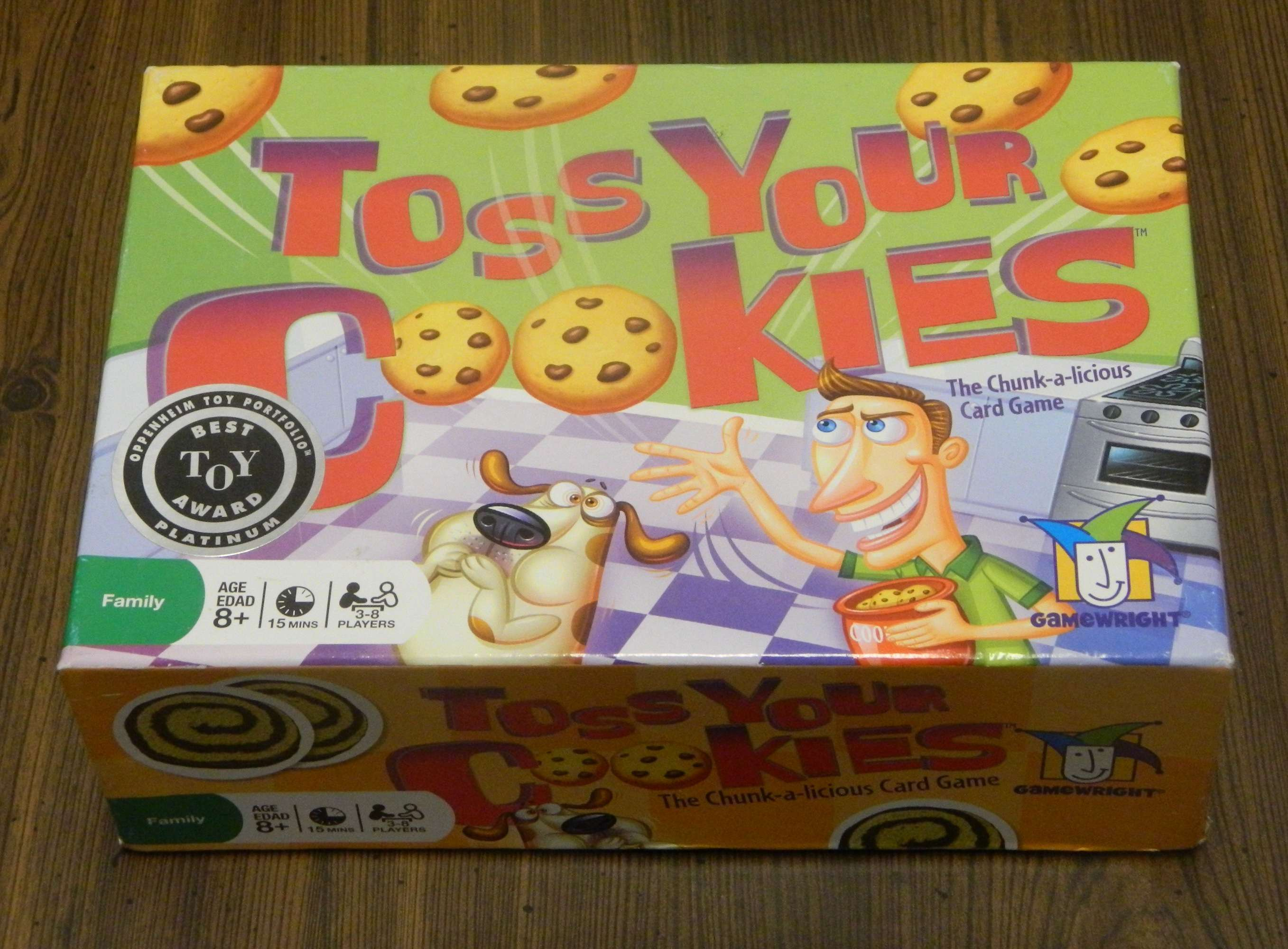 Toss Your Cookies Card Game Box