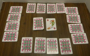 Rat-a-Tat Cat Card Game Setup