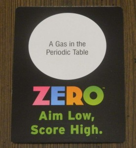 Zero Trivia Game Sample Question
