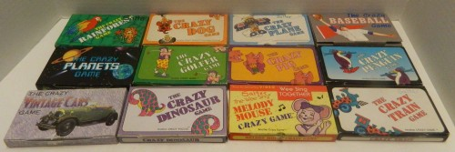 Picture of various Crazy Puzzle boxes
