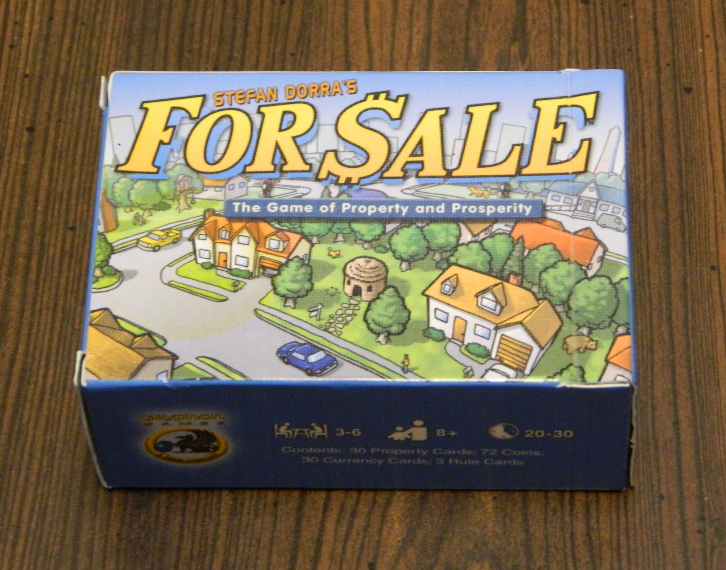 For Sale Card Game Box