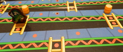 Ladders in Donkey Kong board game