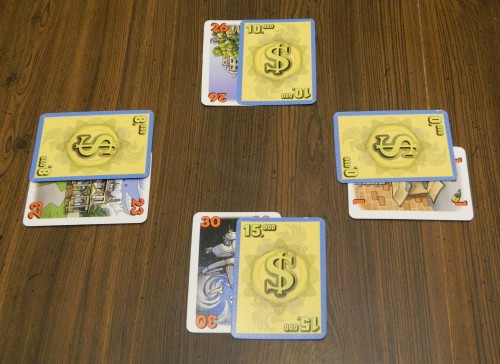 For Sale Card Game End of Selling Round