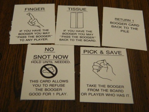 Action cards in Pass the Booger