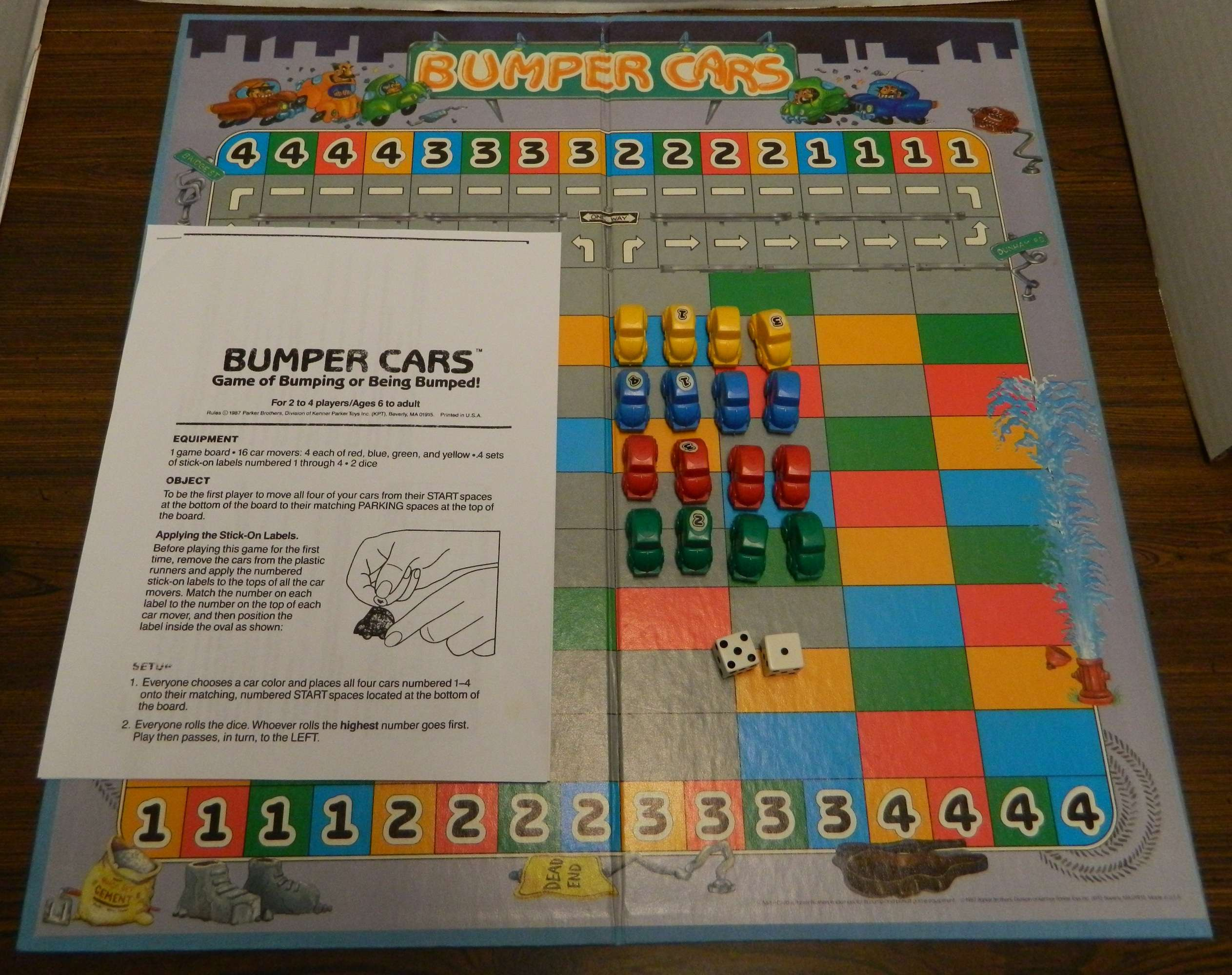 Bumper Cars Aka Sniggle Board Game Review And Instructions