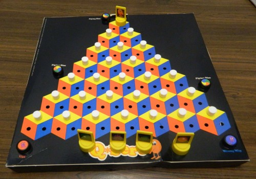 Setup for Q*bert Board Game