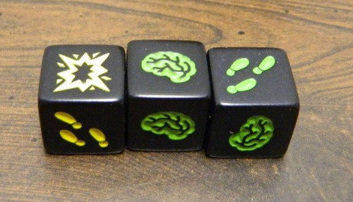 1st Roll in Zombie Dice