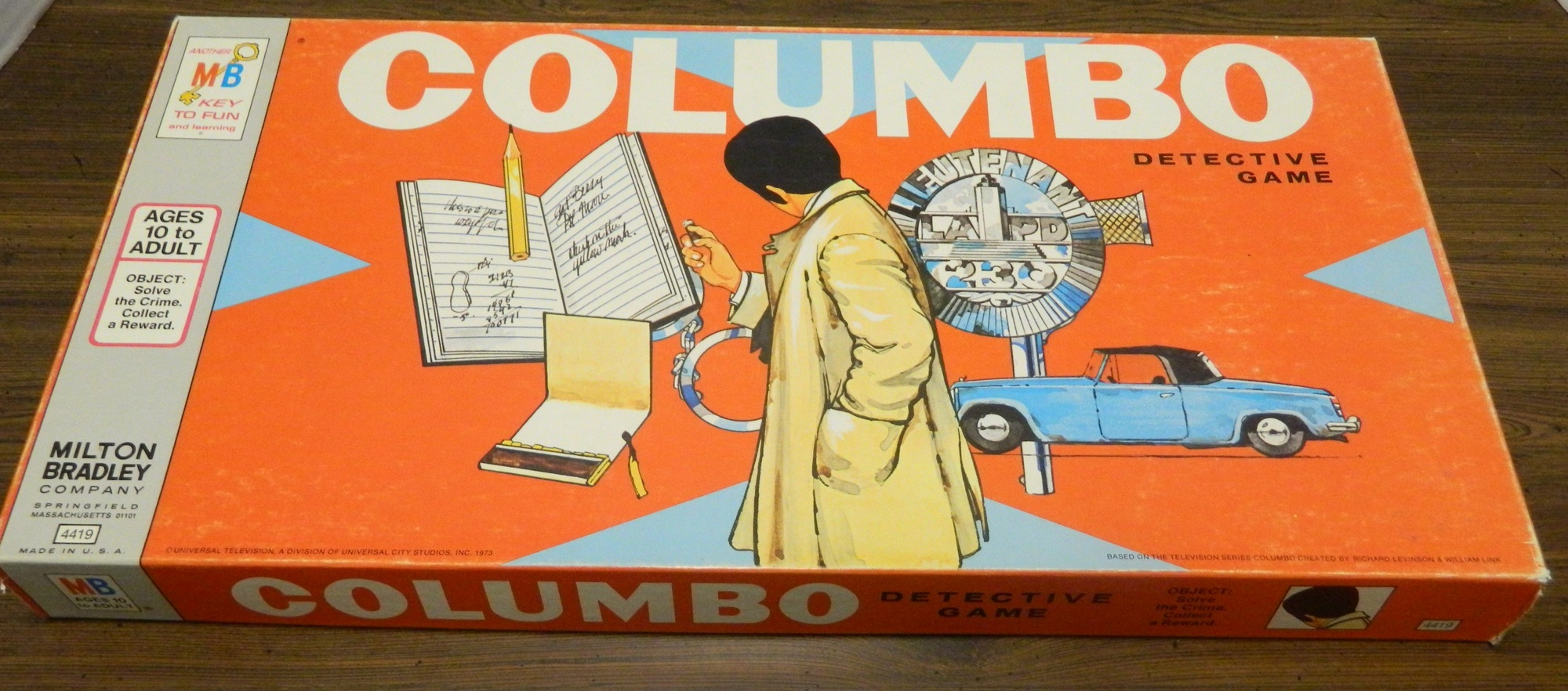 Box for Columbo Board Game