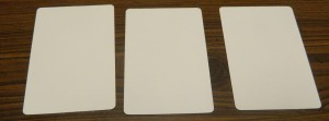 Three Blank Cards in Jomack