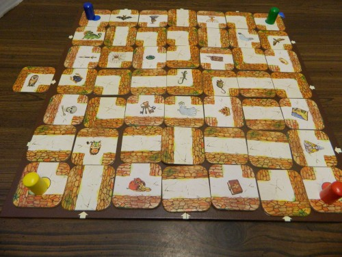 Slide Pieces in Labyrinth