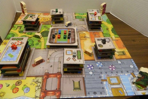 Setup for Rampage Board Game