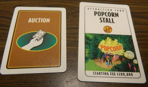 Auctions in Roller Coaster Tycoon Board Game