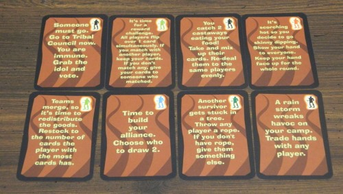 Survivor Australian Outback Card Game Command Cards