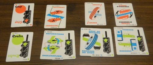 Hazard Cards in Mille Bornes