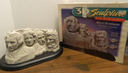 Mount Rushmore Sculpture Puzzle