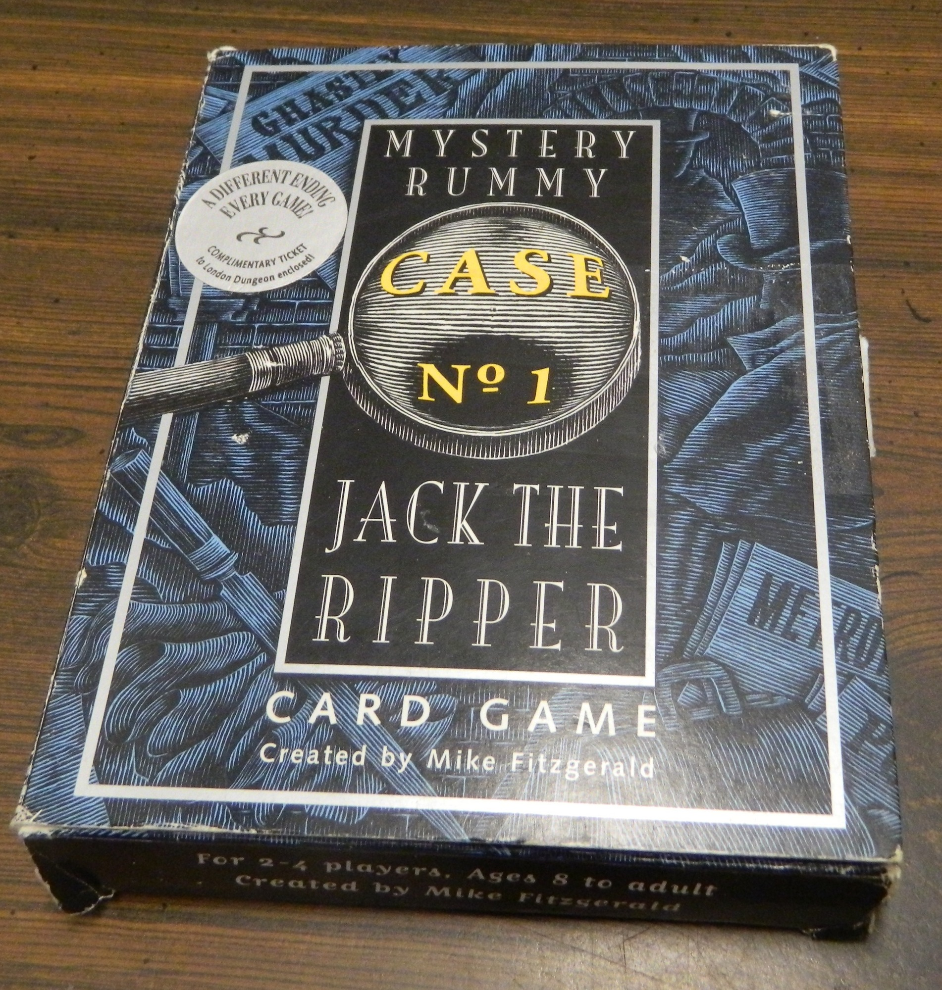 Box for Mystery Rummy Jack the Ripper
