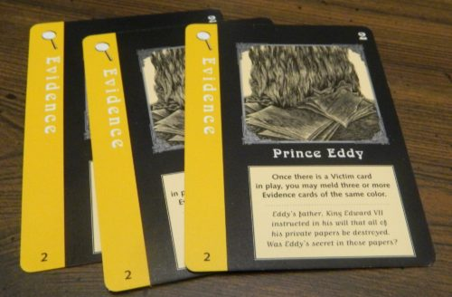 Evidence Cards in Mystery Rummy Jack the Ripper
