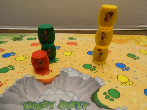 Stacking Playing Pieces in Dizzy Dizzy Dinosaur