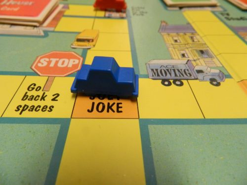 Joey Joke Card in Full House Board Game