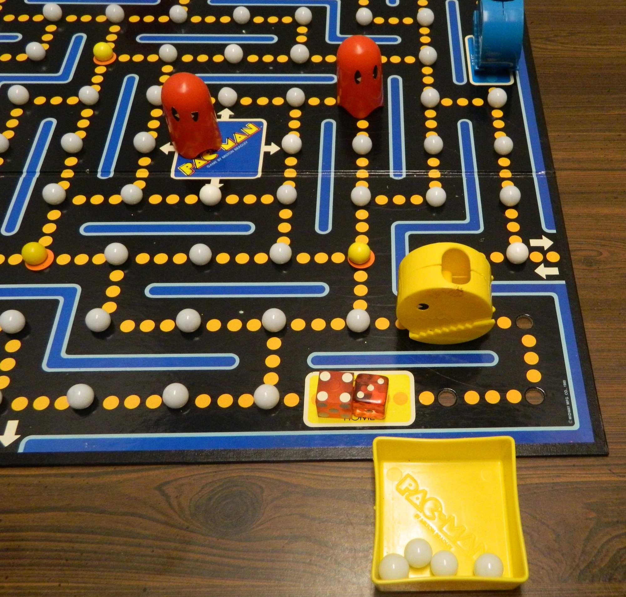 Pacman Table Game >> Pac Man Board Game 1980 Review And Rules Geeky Hobbies