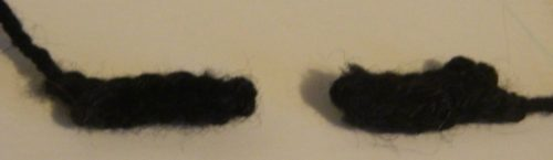 Eyebrows for Crochet Mr. Saturn