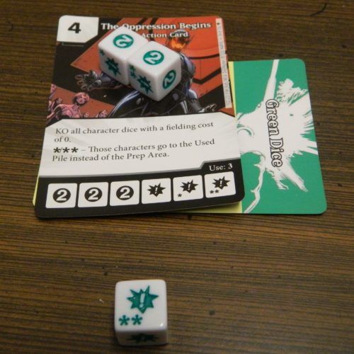 Action Dice Face in Dice Masters Age of Ultron