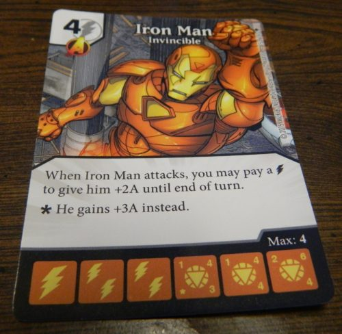Card Layout for Dice Masters Age of Ultron