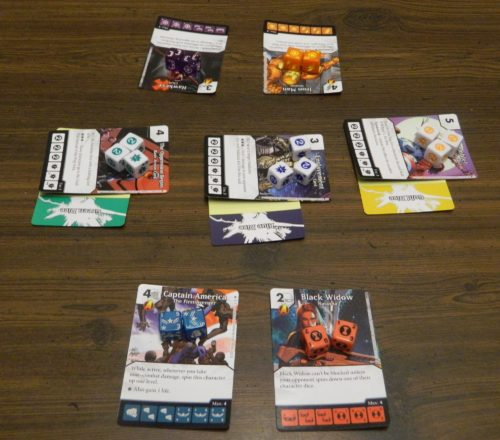 Setup for Dice Masters Age of Ultron