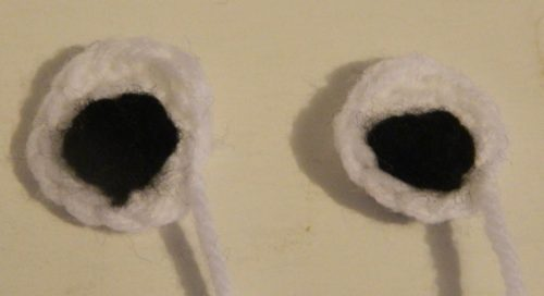 Crocheted Eyes for Worms Amigurumi