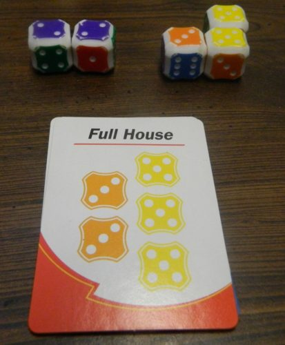 Rolling Dice in Yahtzee Turbo