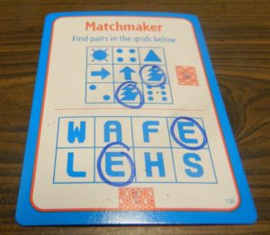 Matchmaker Card from Big Brain Academy Board Game