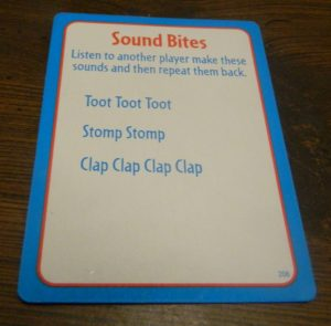 Sound Bites Card from Big Brain Academy Board Game