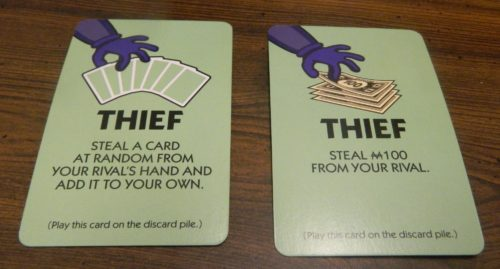Thief Cards from Monopoly Hotels
