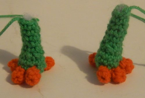 Legs for Yooka Amigurumi