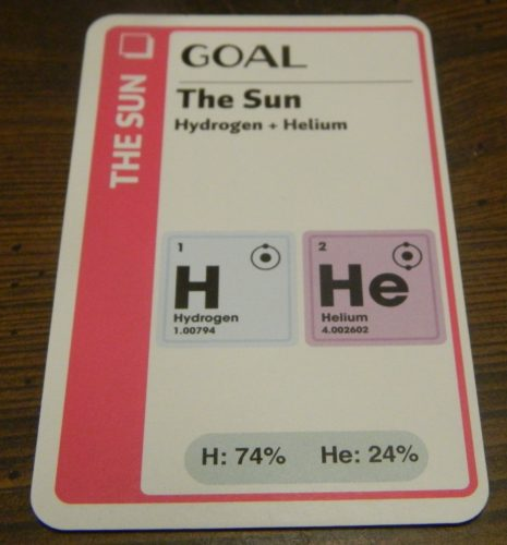 Goal Card in Chemistry Fluxx