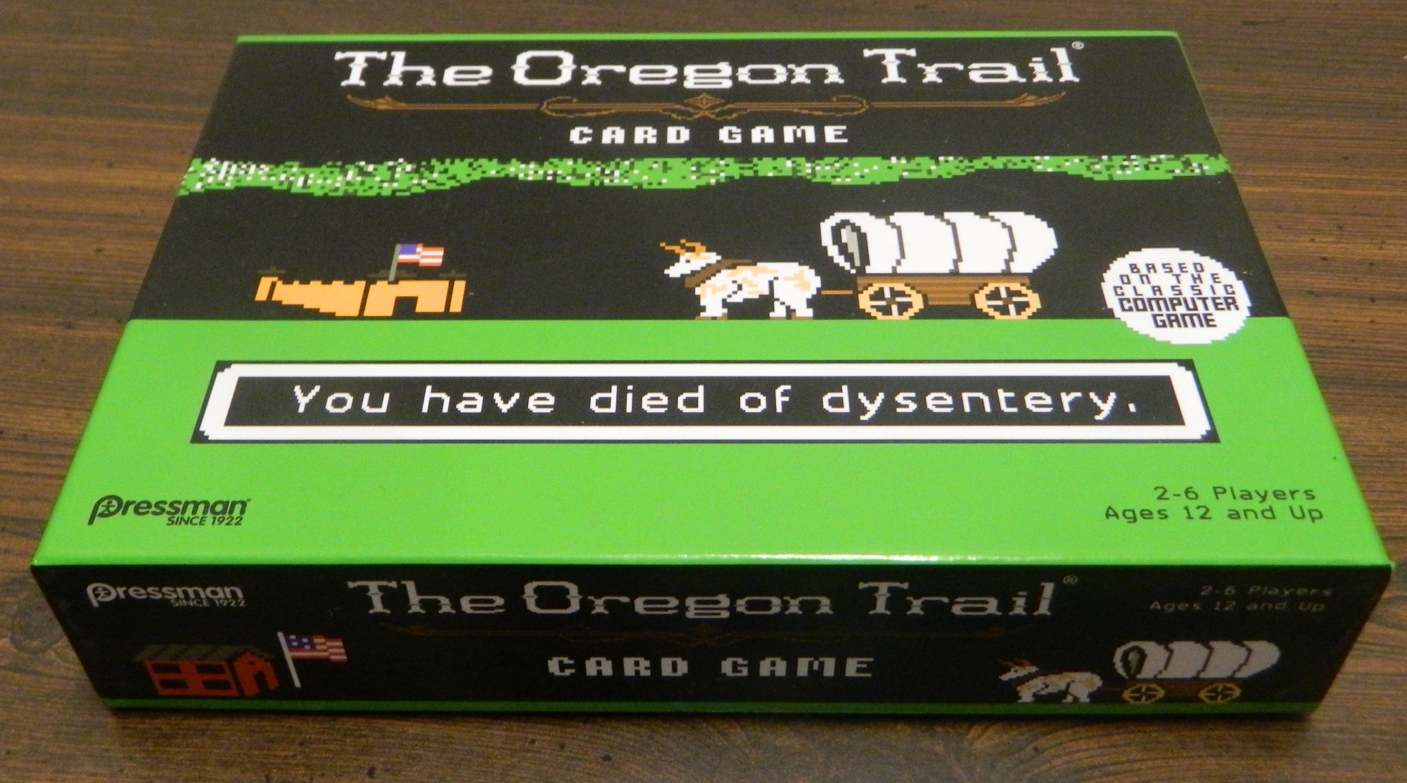 Game Box for the Oregon Trail Card Game