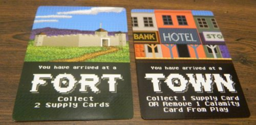 Fort and Town in The Oregon Trail Card Game