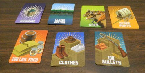 Supply Cards in The Oregon Trail Card Game