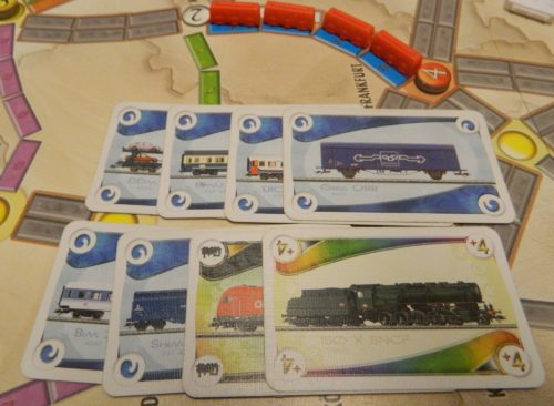Claiming a Route in Ticket to Ride Marklin