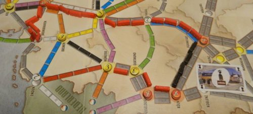 Moving a Passenger in Ticket to Ride Marklin