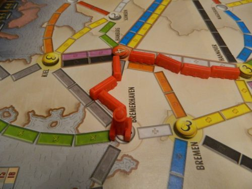Placing a Passneger in Ticket to Ride Marklin