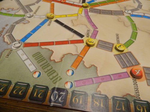 Setup for Ticket to Ride Marklin