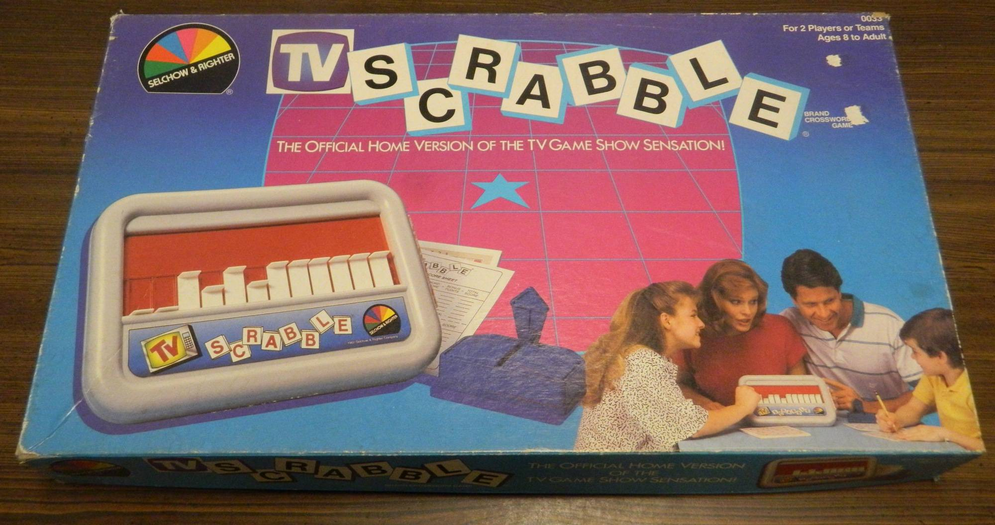 Box for TV Scrabble