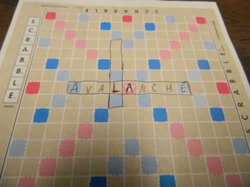 Second Word in TV Scrabble