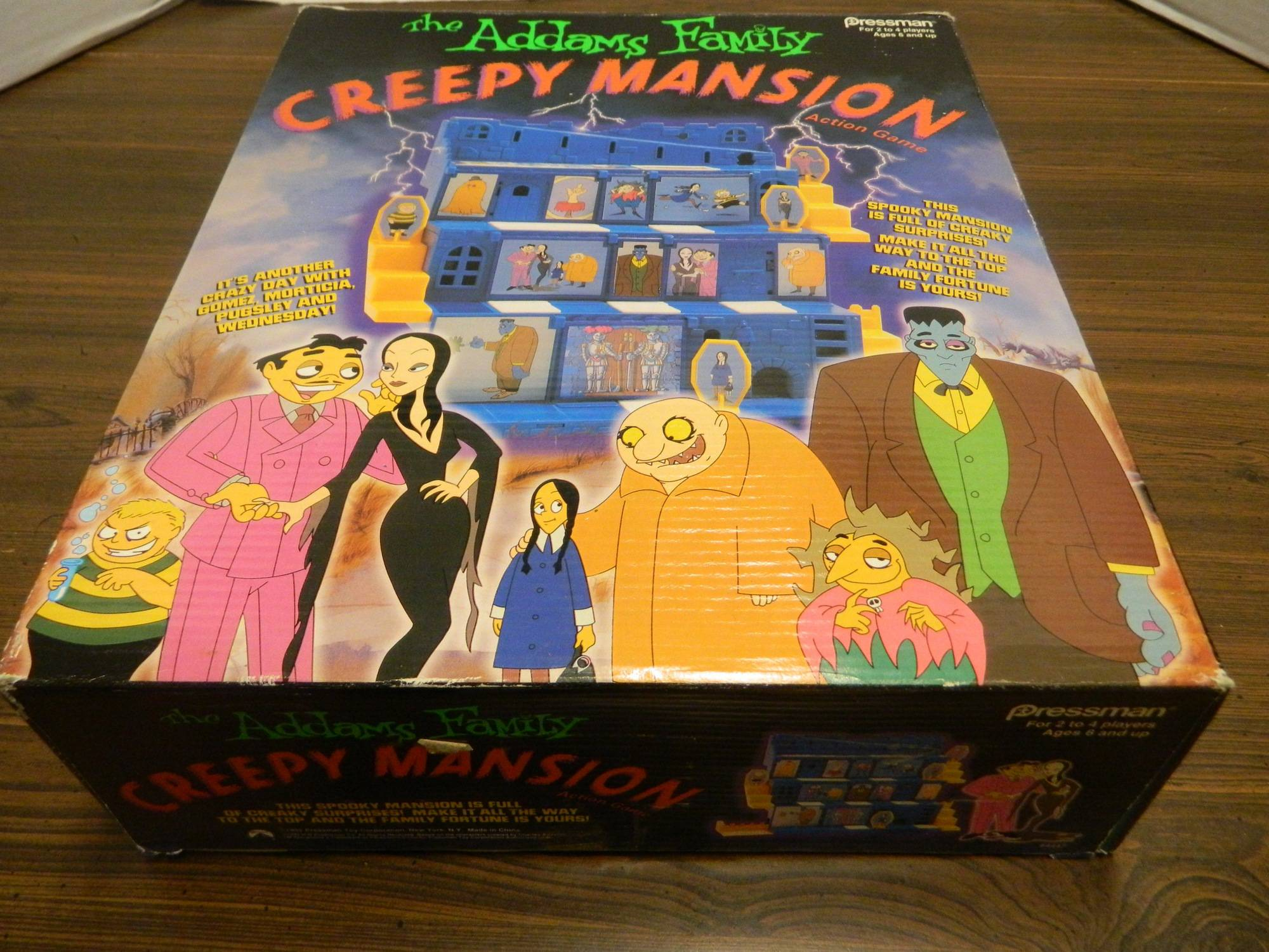 Box for Addams Family Creepy Mansion Action Game